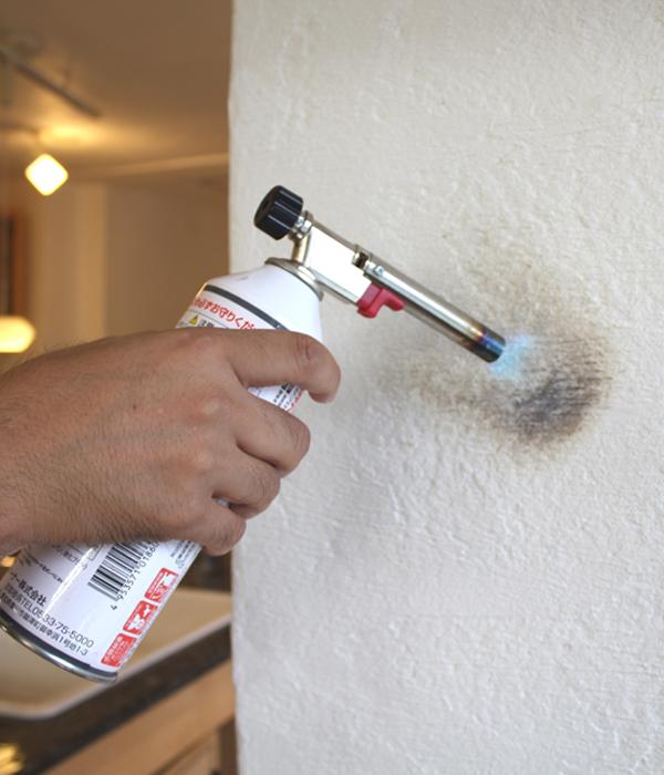 漆喰は燃えにくい伝統的な素材です