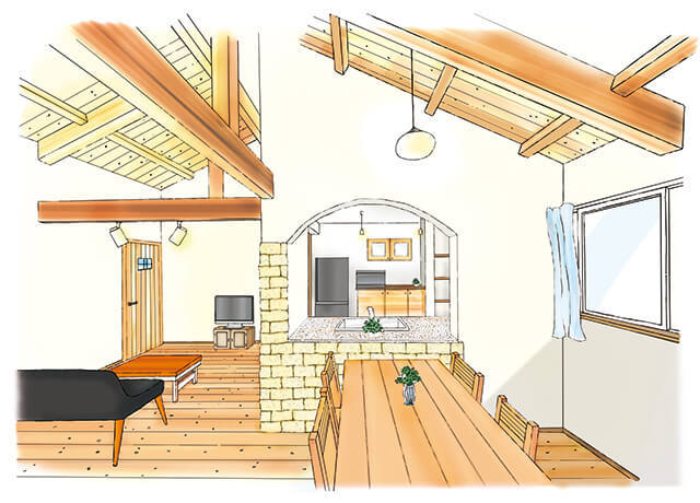 自然素材で厳しい省エネ基準をクリアした暖かい家