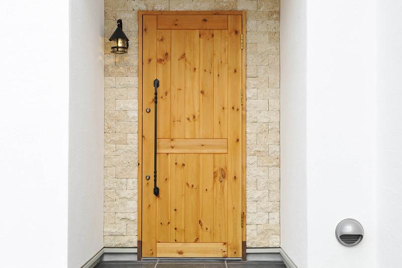 玄関ドア:オリジナル無垢玄関ドア